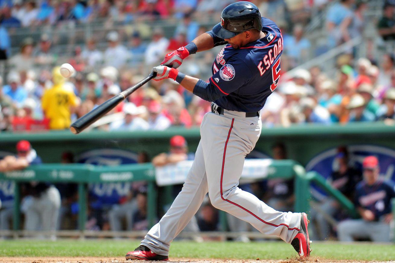 Swinging baseball